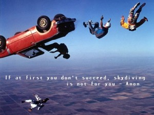 skydiving quote
